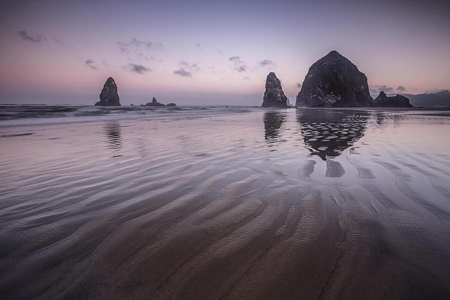 Purple Photograph - Haystack Glow by Jon Glaser