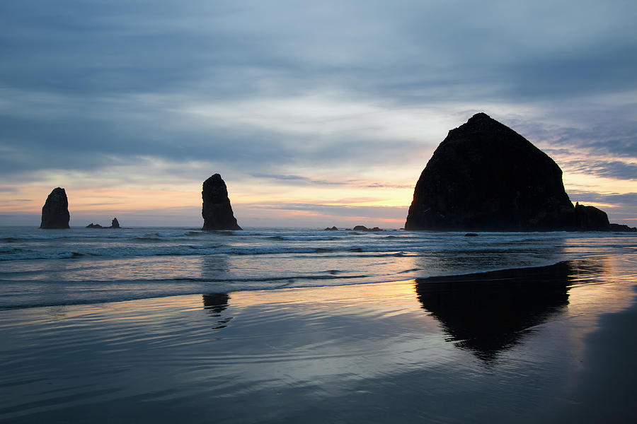 Haystack Photograph - Haystack Rock On Cannon Beach Oregon by David Gn