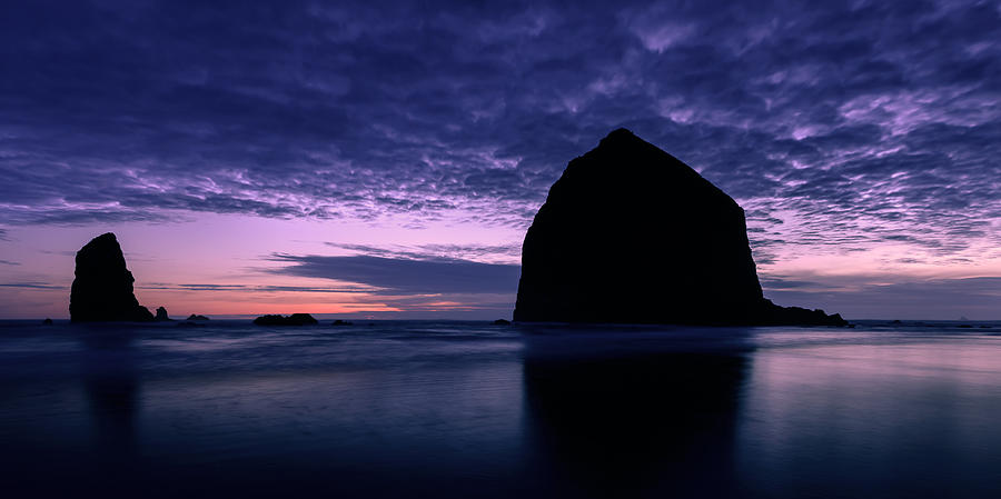 Cannon Beach Photograph - Haystack Rock Twilight by Dan Mihai