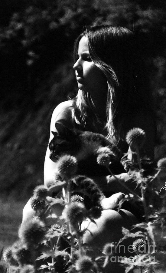 Girl Photograph - Hayven And Cat by Gloria De los Santos