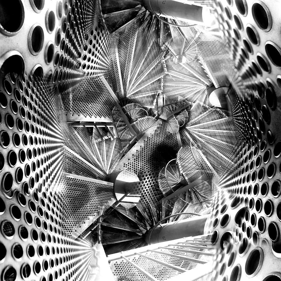 Architecture Digital Art - Hazard Stairs by Florin Birjoveanu