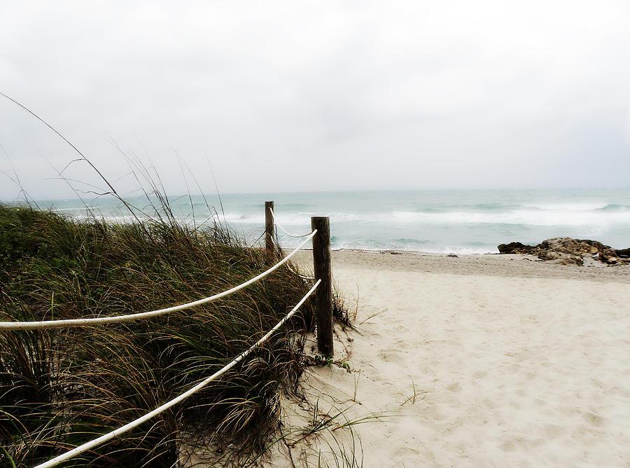 Beach Photograph - Hazy Beach Day by Julie Palencia