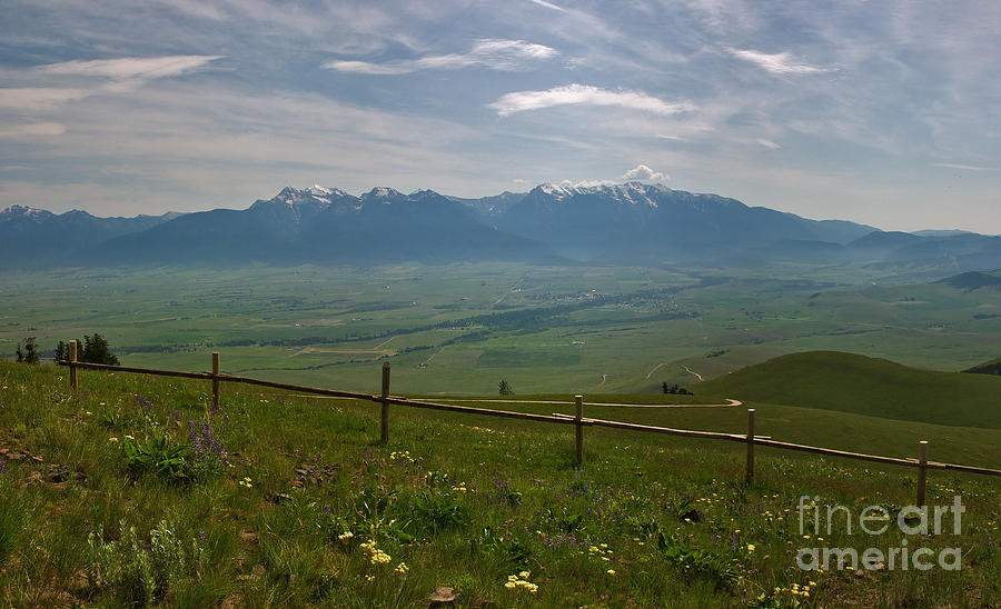 Hazy Photograph - Hazy Day Over The Flathead Valley by Charles Kozierok