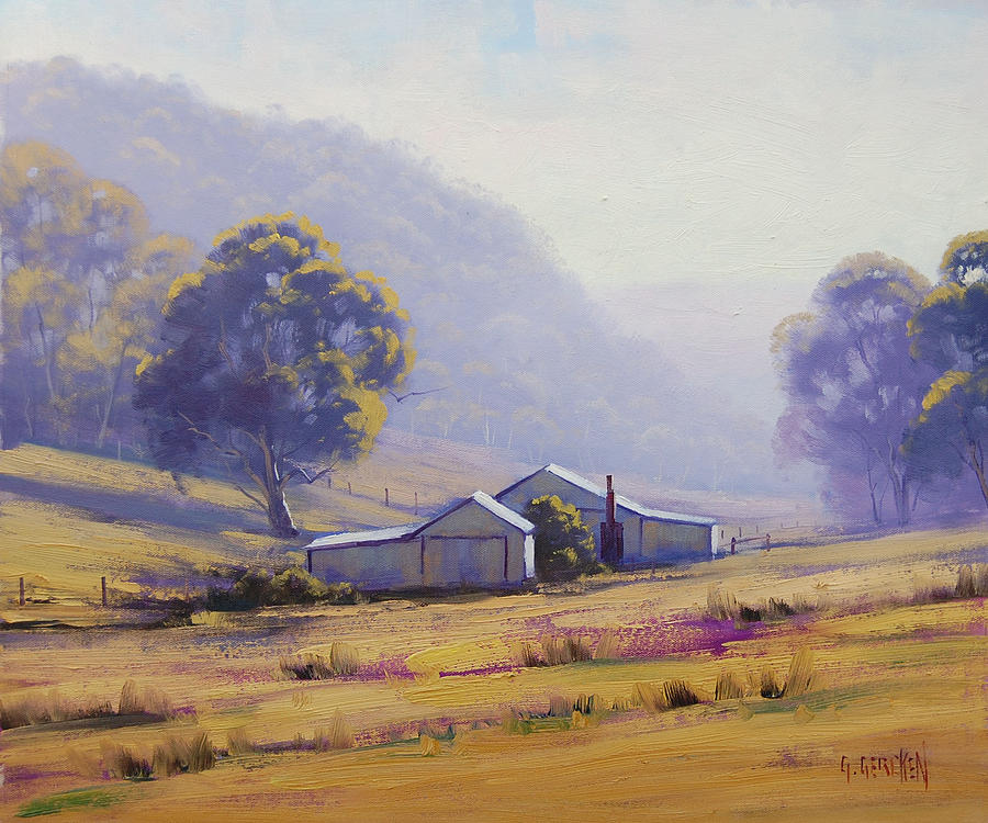 Rural Painting - Hazy Morning by Graham Gercken