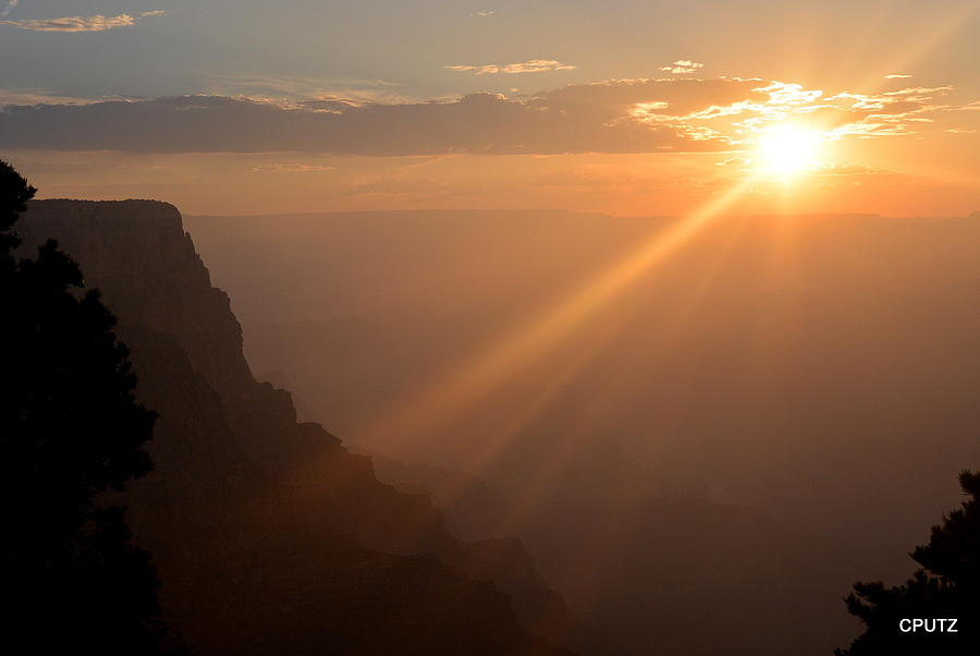 Grand Canyon National Park Photograph - Hazy Sunset by Carrie Putz