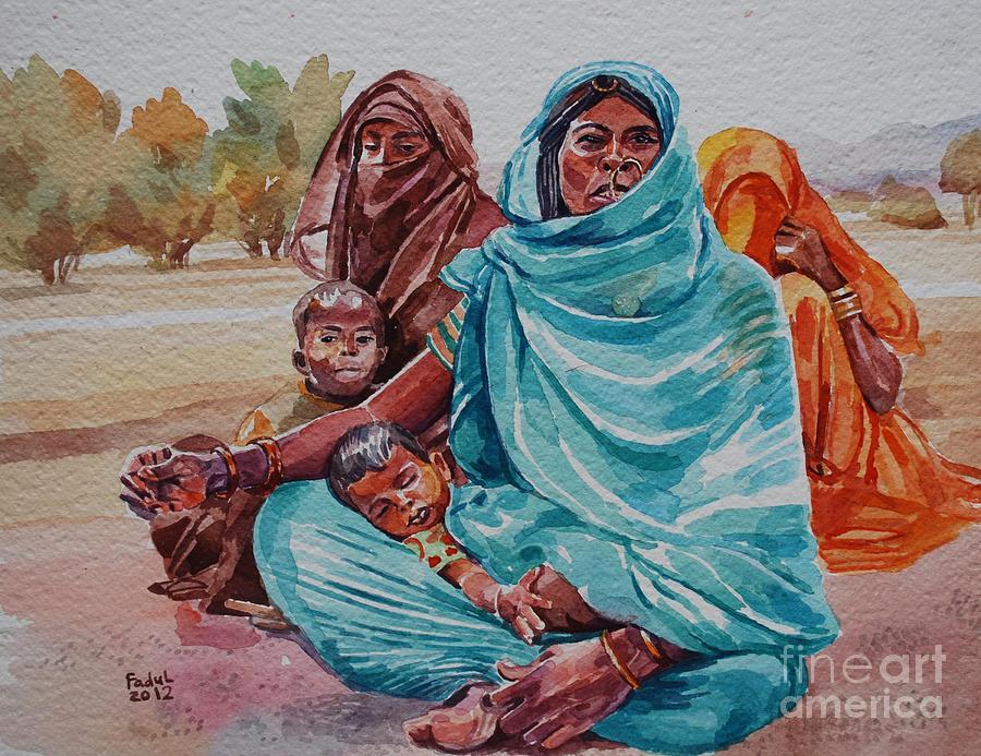 Hdndoh Eastern Sudan Painting - Hdndoh Eastern Sudan by Mohamed Fadul