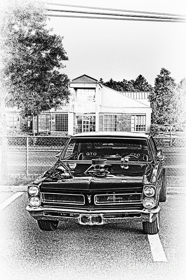 Hdr Black White Bw Muscle Car Sports Cars Street Rod Classic Art