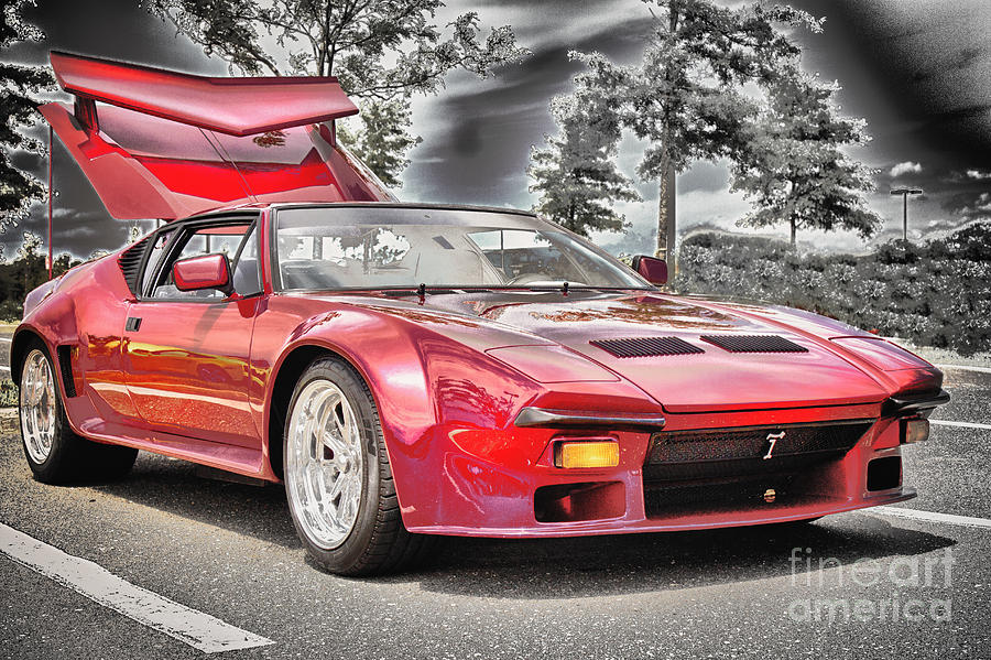 Hdr Photograph   Hdr Exotic Sports Car Custom Photo Picture Photography  Black White Effect Art Gallery