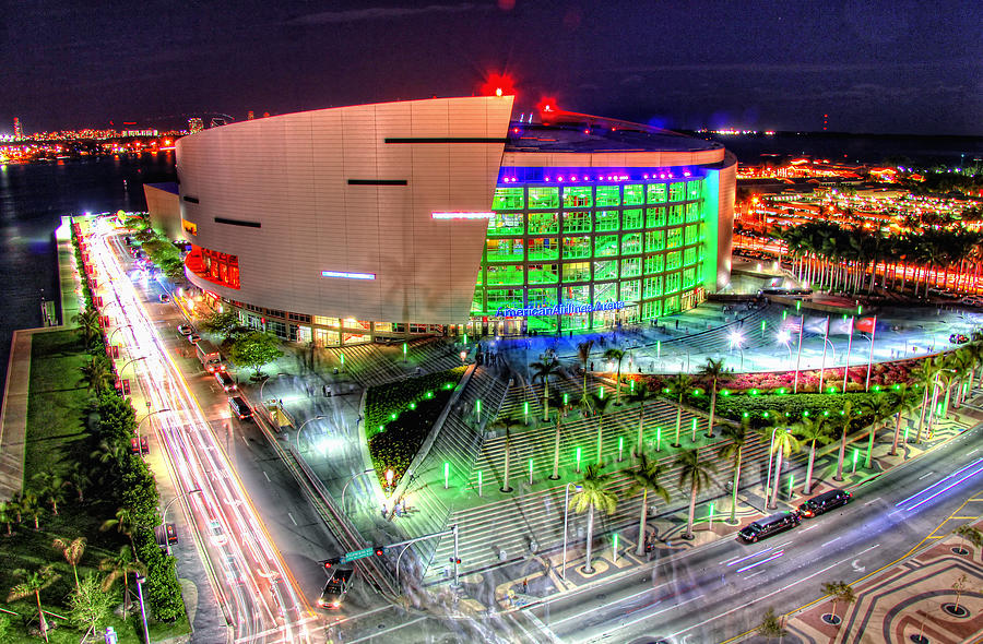 Aaa Photograph - Hdr Of American Airlines Arena by Joe Myeress