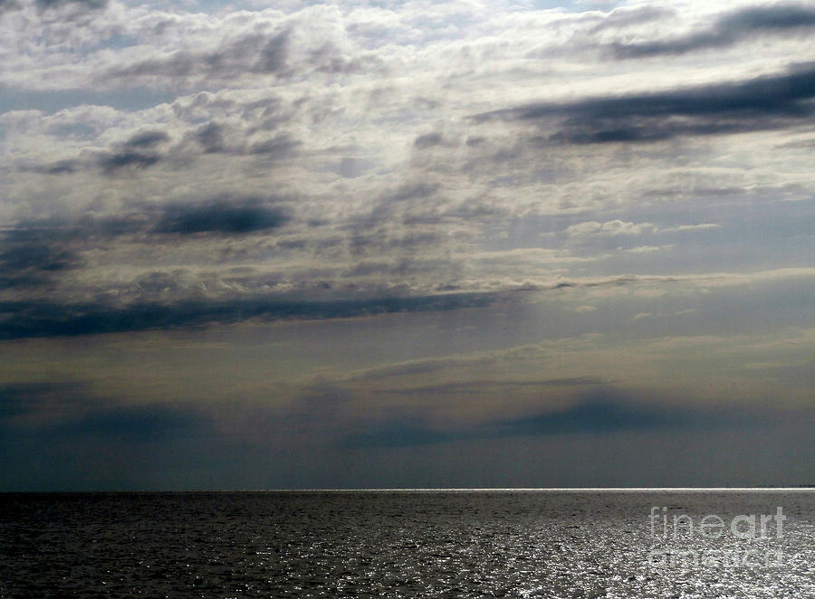 Hdr Photograph - Hdr Storm Over The Water  by Joseph Baril
