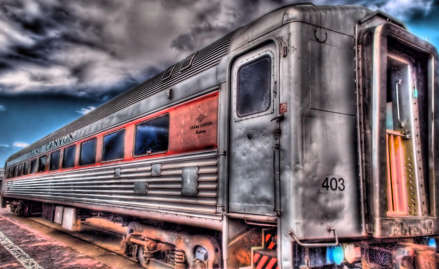 Hdr Photograph - Hdr Train by DH Visions Photography