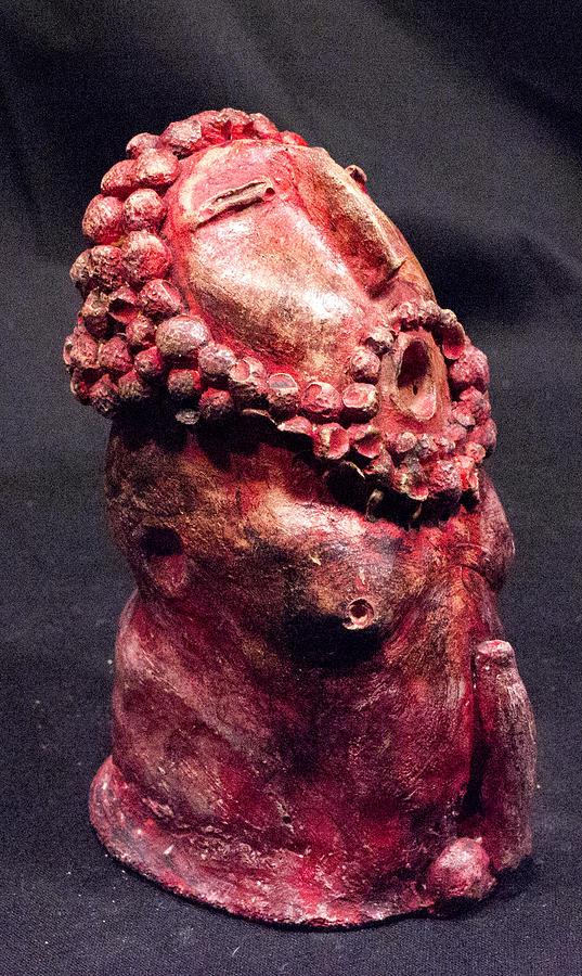 Fertility Sculpture - He Garnet by Mark M  Mellon