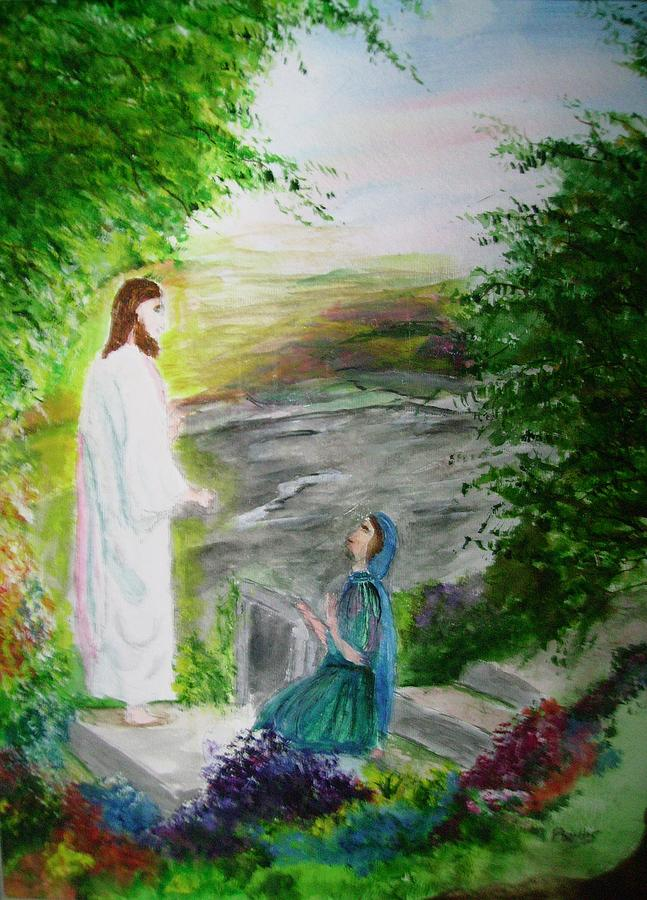 He Has Risen Painting by Phyllis Miller