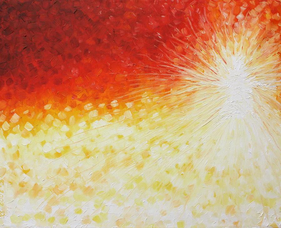 God Painting - He Is Here by Sandra Yegiazaryan