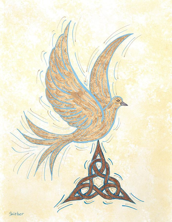 Bird Painting - He Set Us Free by Susie WEBER