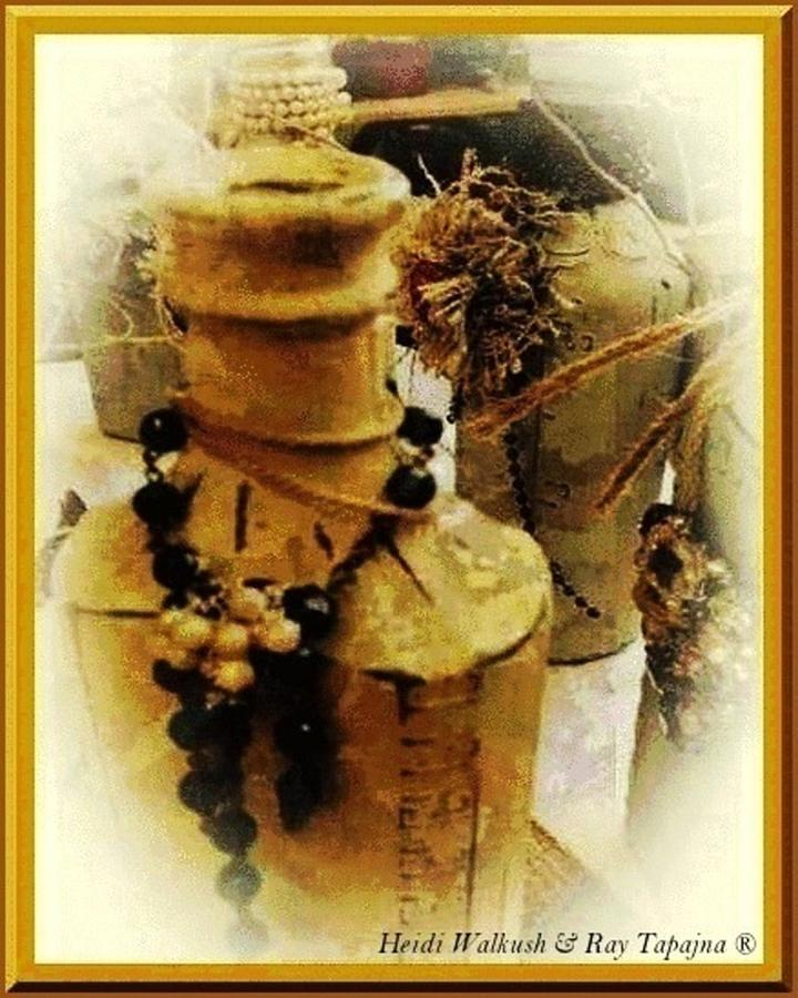 Vintage Bottle Mixed Media - He Turned Water Into Wine by Ray Tapajna