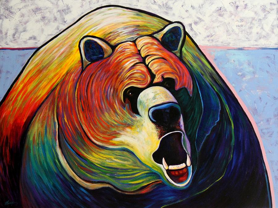Wildlife Painting - He Who Greets With Fire by Joe  Triano
