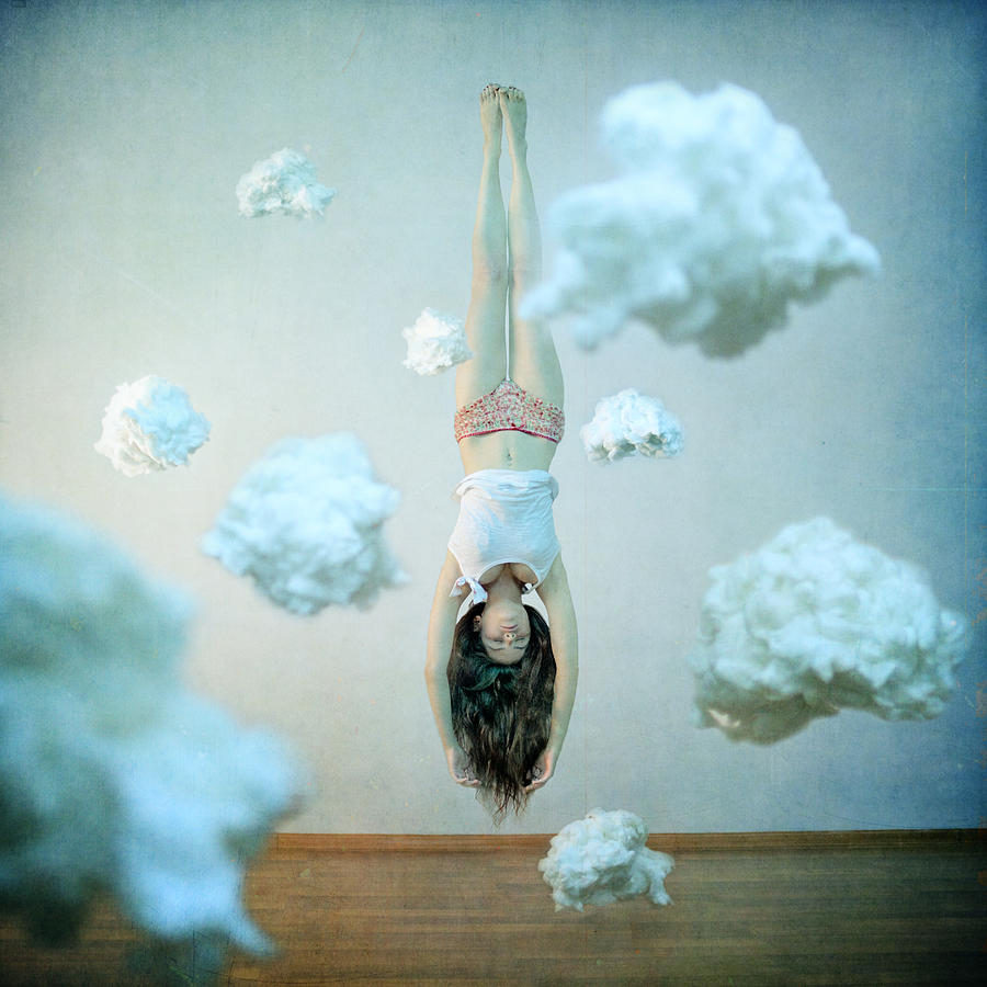 Floating Photograph - Head In The Clouds by Anka Zhuravleva