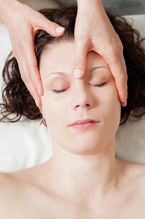 Human Photograph - Head Massage by Thomas Fredberg