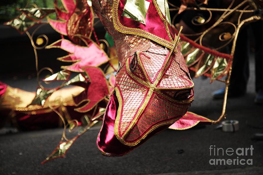 August Photograph - Head Of A Dragon At Leeds Carnival by Deborah Benbrook