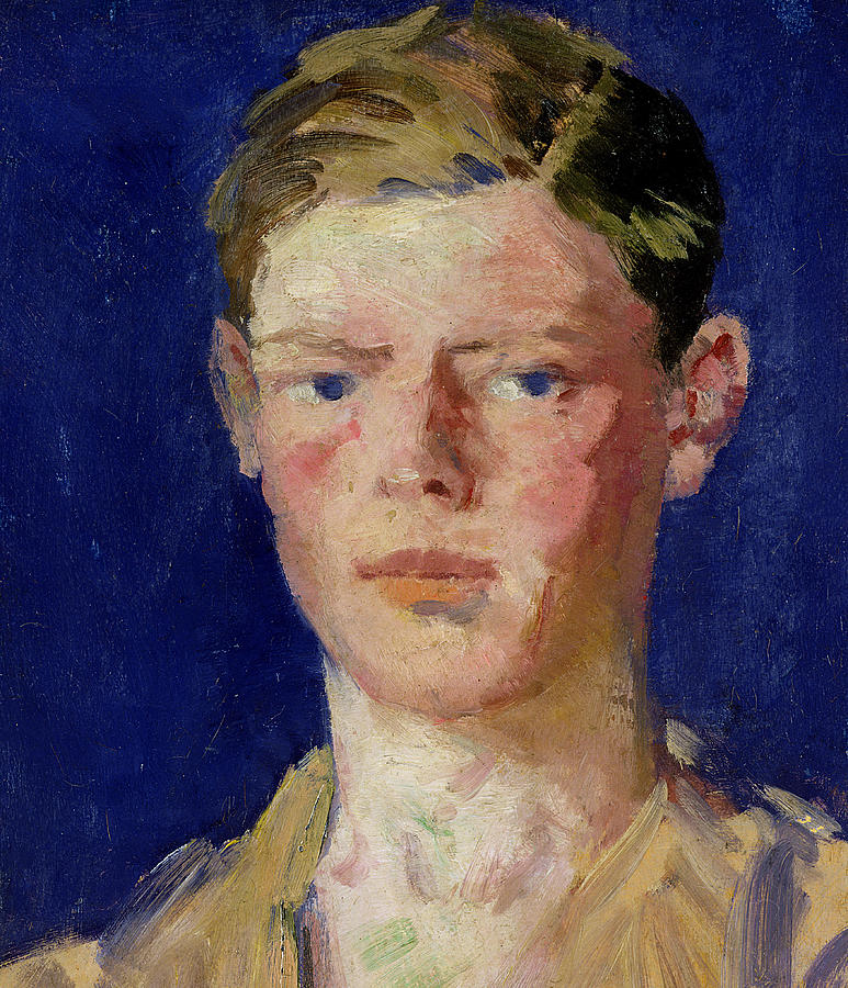 Cadell Painting - Head Of A Young Man by Francis Campbell Boileau Cadell