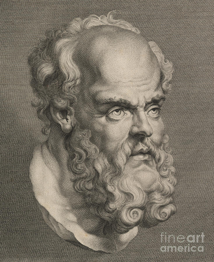 Socratic Sculpture - Head Of Socrates by Anonymous