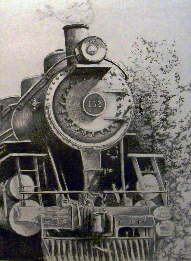 Train Drawing - Head Of Steam by Rick Moore