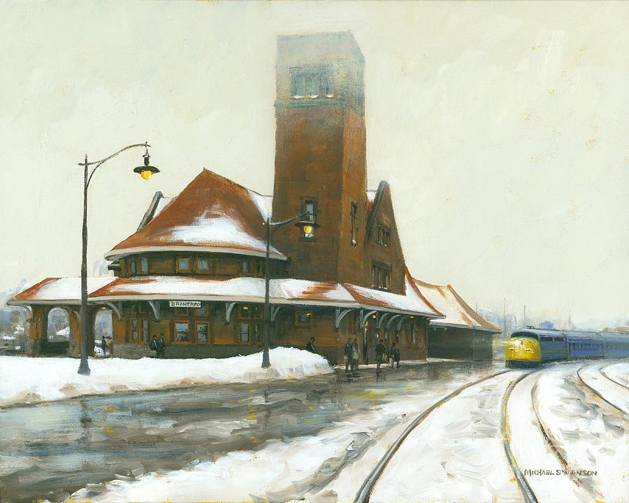 Train Painting - Heading East by Michael Swanson