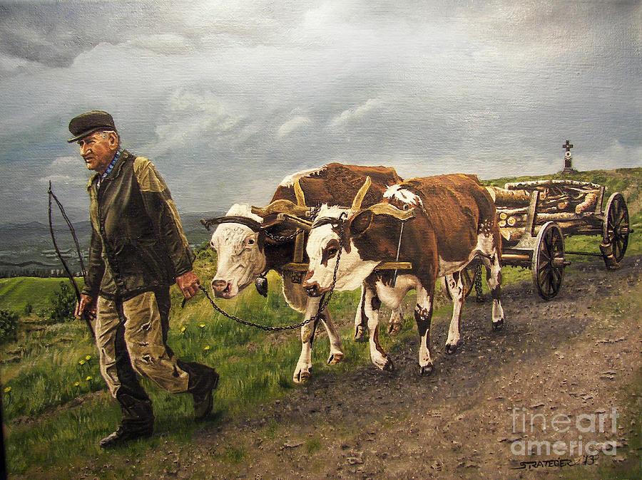 Animals Painting - Heading Home by Deborah Strategier