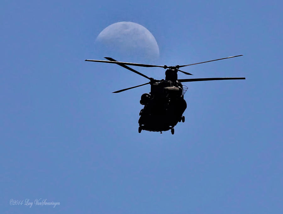 Moon Photograph - Heading Home by Lucy VanSwearingen