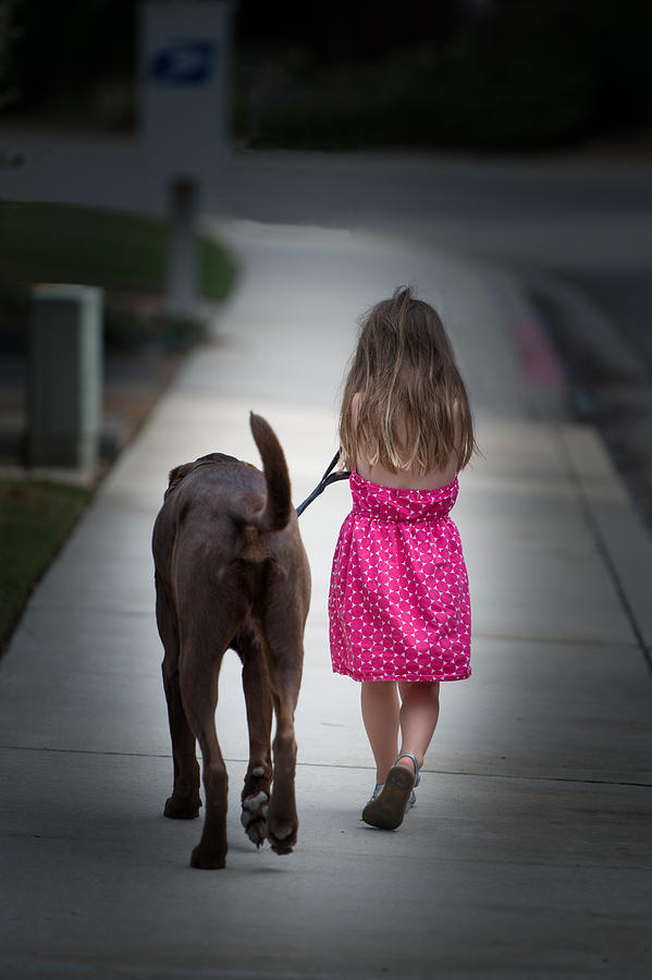 Young Girl Photograph - Heading Home by Paul Johnson