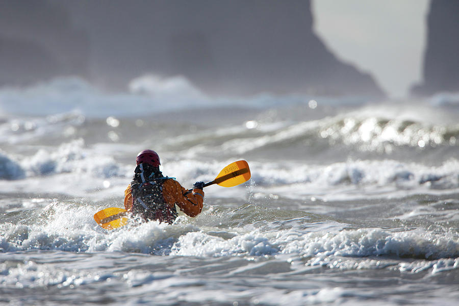 Action Photograph - Heading Out At The La Push Pummel by Gary Luhm