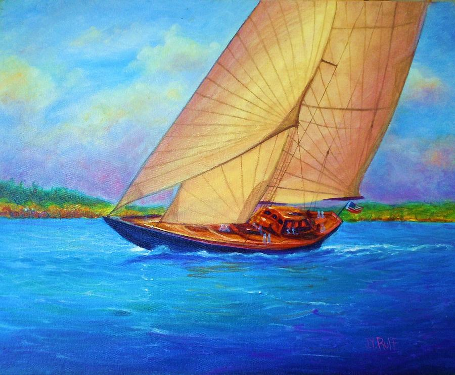 Heading Out Keehi Lagoon Painting by Joseph   Ruff