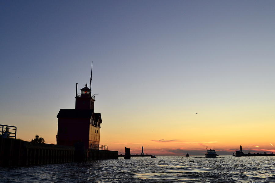 Lighthouse Photograph - Heading Out by Michelle Calkins