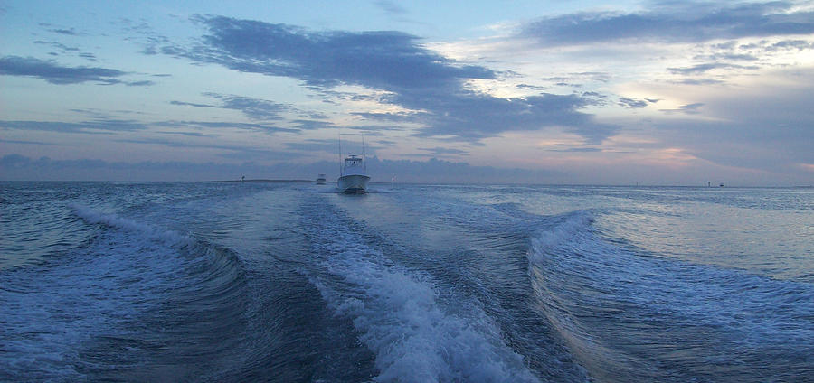 Boat Photograph - Heading Out To Sea by Richard Booth