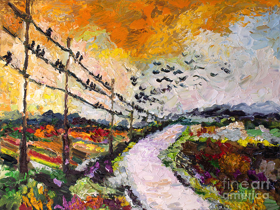 Heading South Autumn Begins Painting by Ginette Callaway