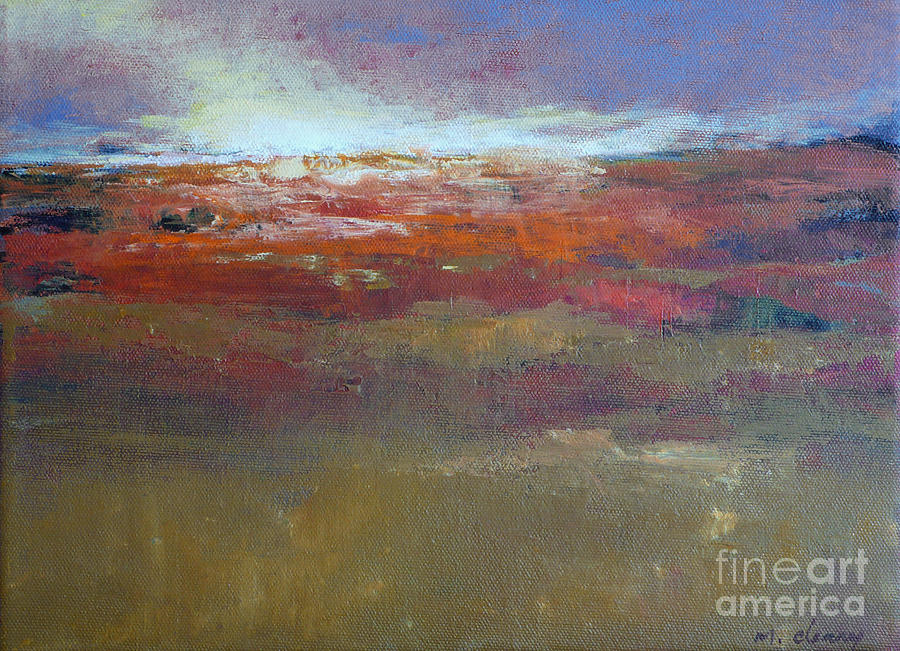 Contemporary Landscape Painting - Heading West 6 by Melody Cleary