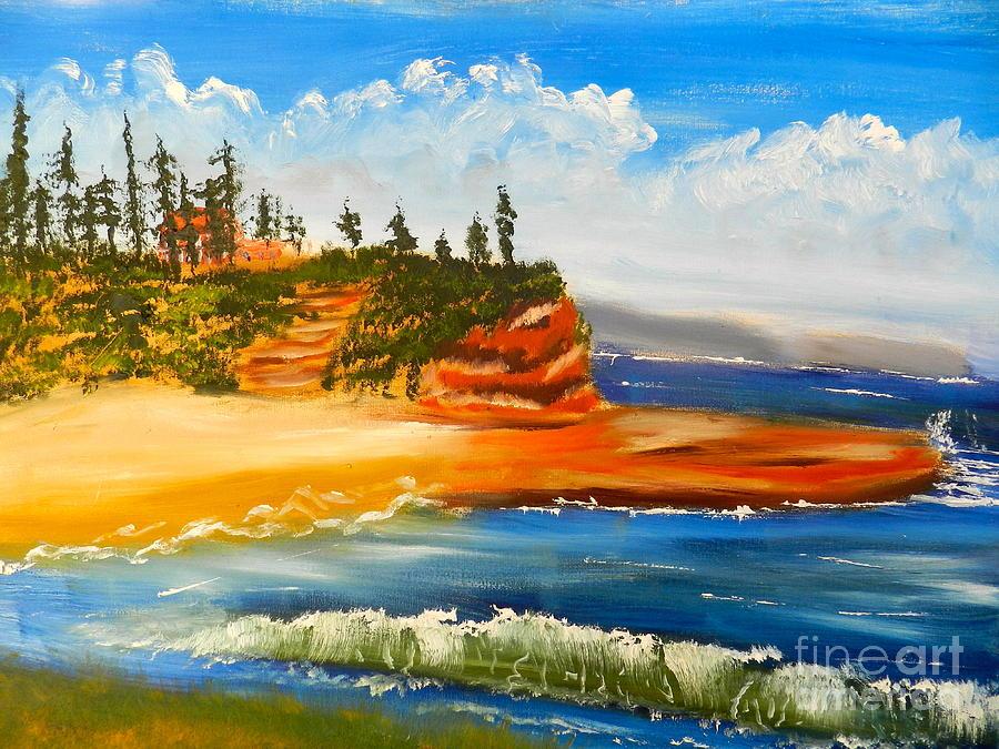 Impressionism Painting - Headlands by Pamela  Meredith