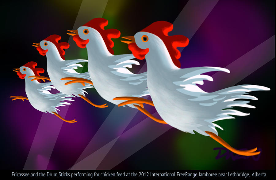 Chickens Digital Art - Headliners by Tom Dickson