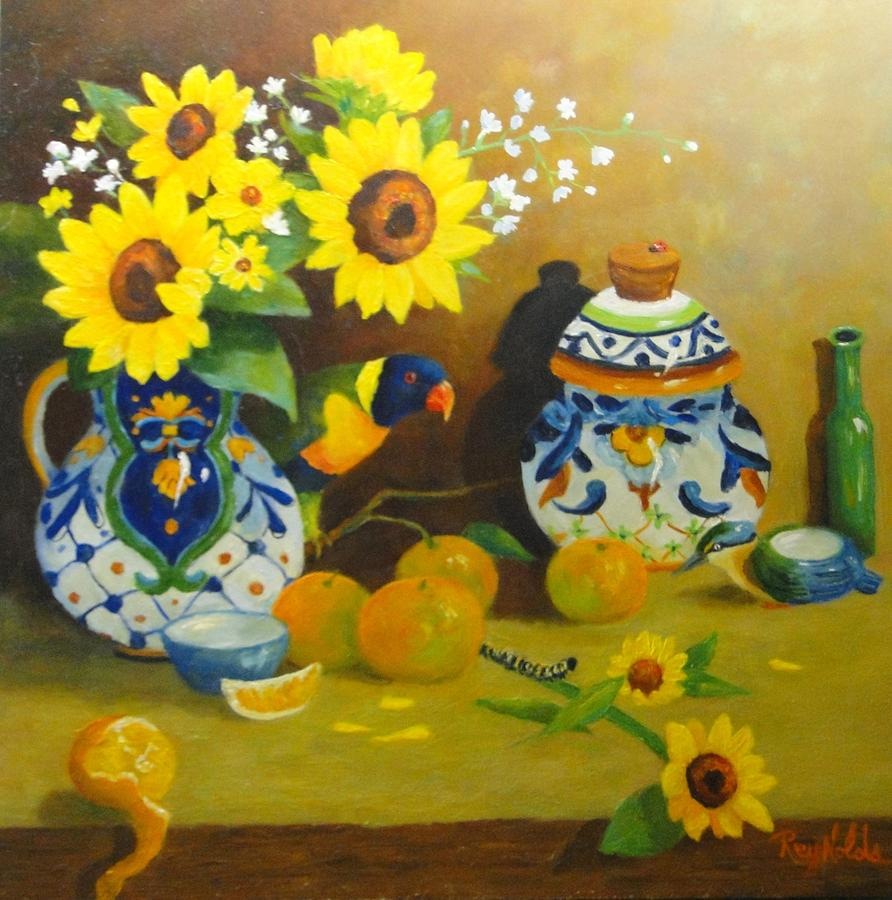 Still Life Painting - Heads Or Tails by Carol Reynolds
