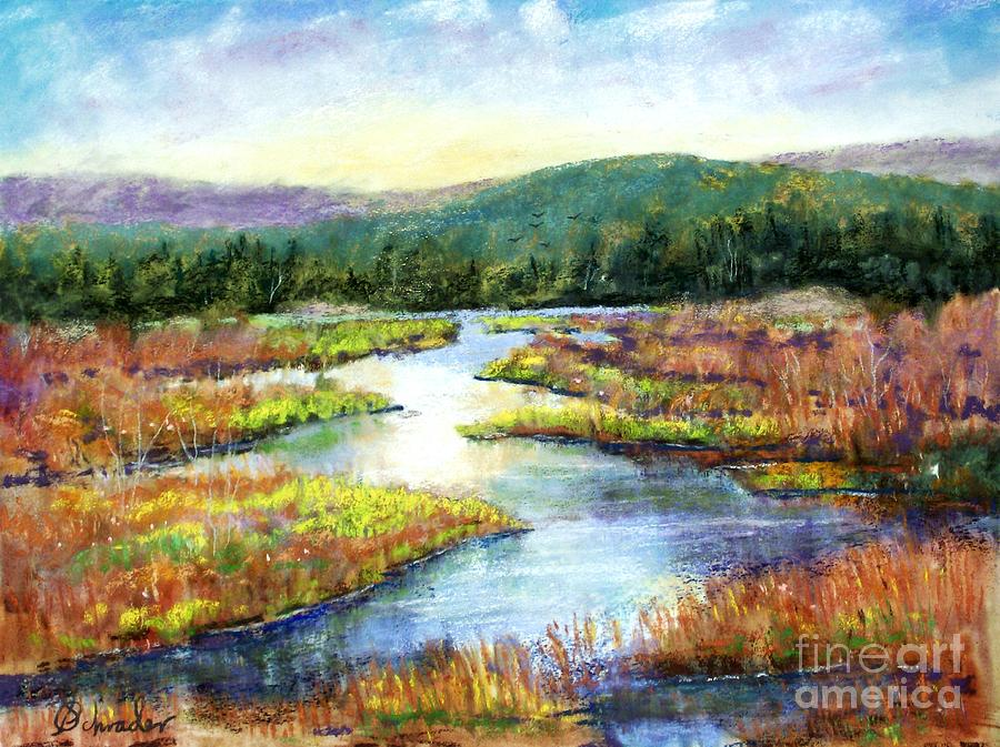 Landscape Pastel - Headwaters Of Blackwater by Bruce Schrader