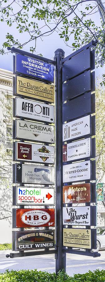 Signs Photograph - Healdsburg Signs by Karen Stephenson