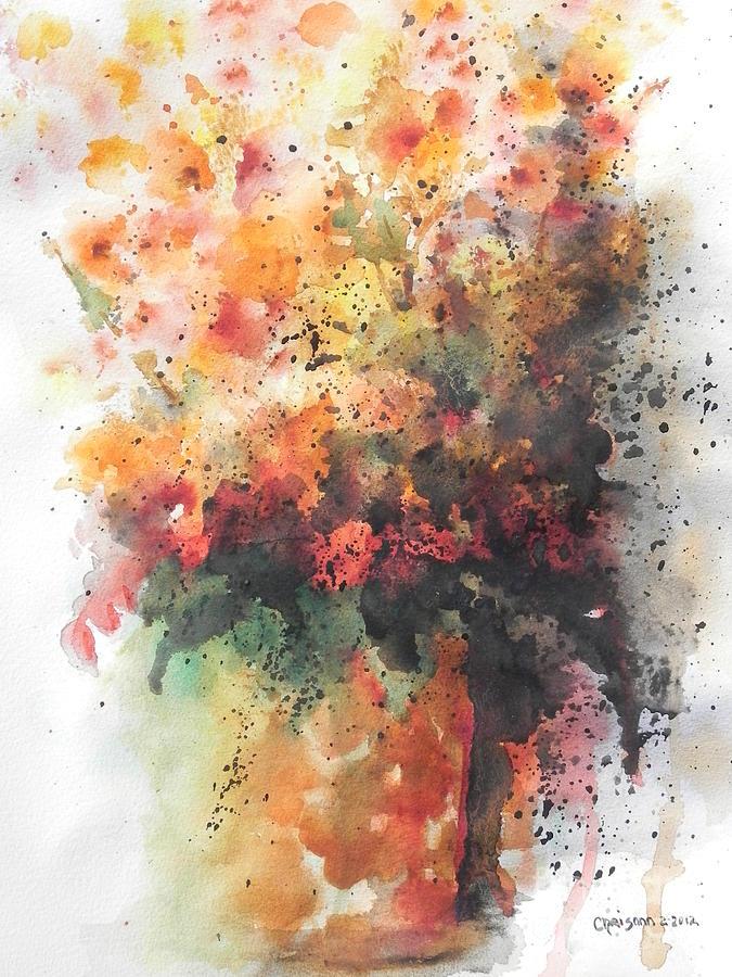 Watercolor Painting - Healing by Chrisann Ellis