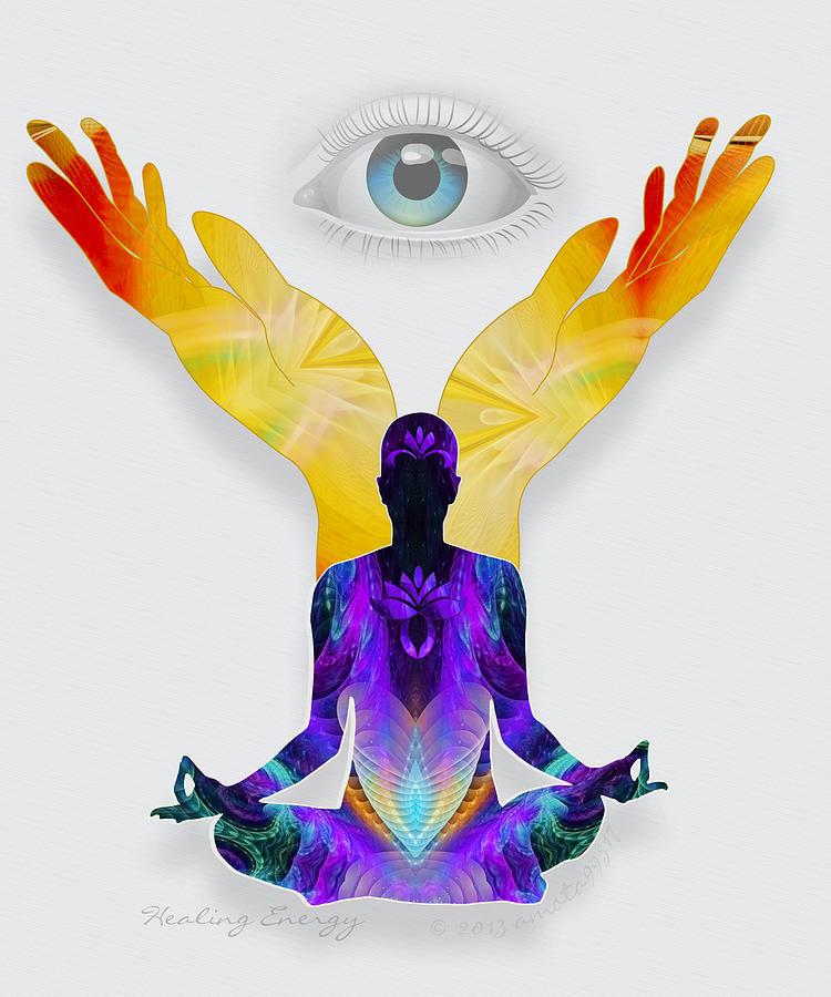 Healing Digital Art - Healing Energy by Gayle Odsather