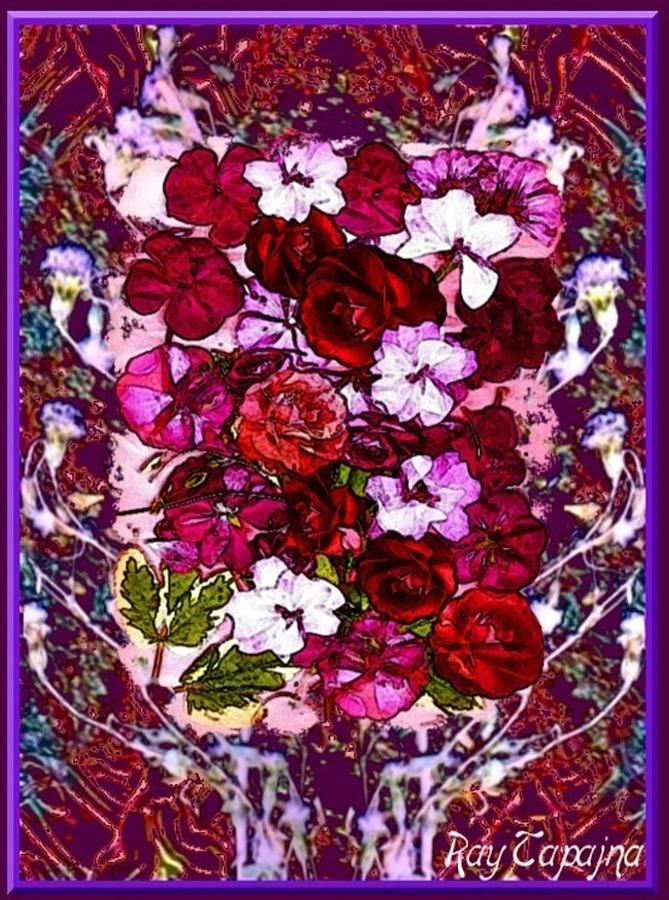Flowers Mixed Media - Healing Flowers for You by Ray Tapajna