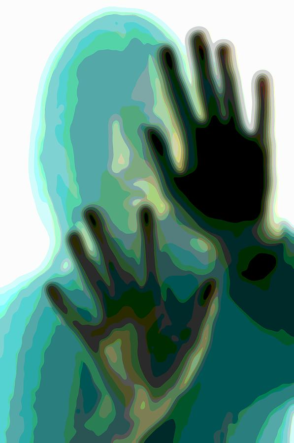 Portrait Art Digital Art - Healing Hands Cutout Portrait Art by Mary Clanahan