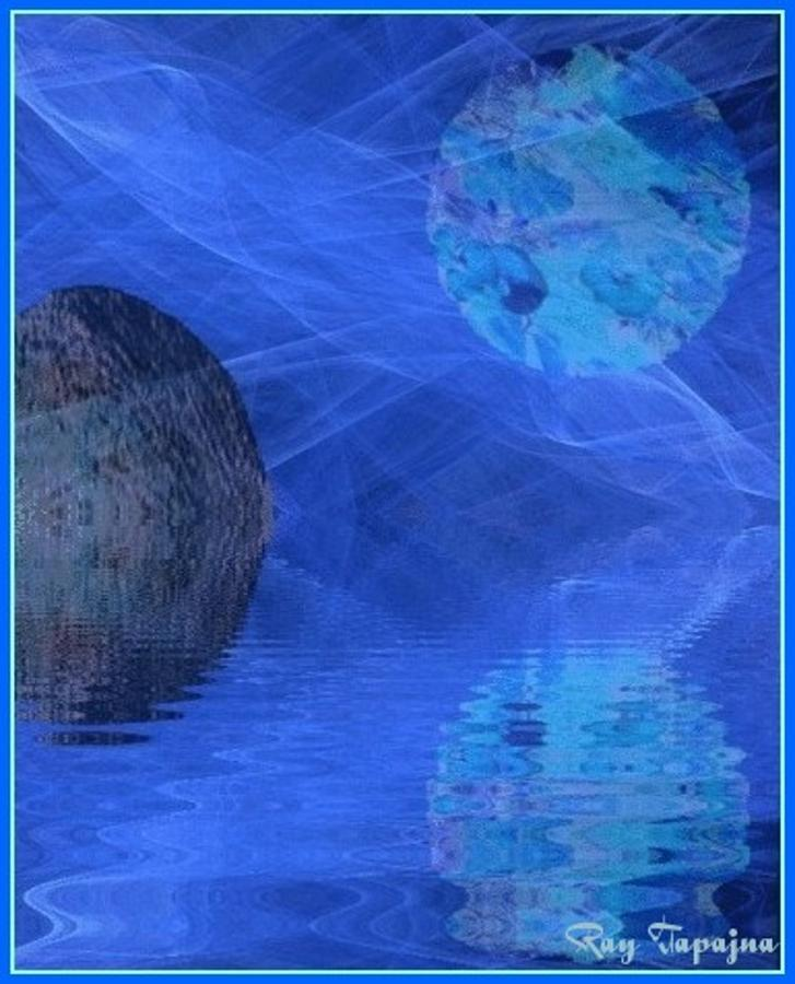 Healing Mixed Media - Healing in Blue Coming Home by Ray Tapajna
