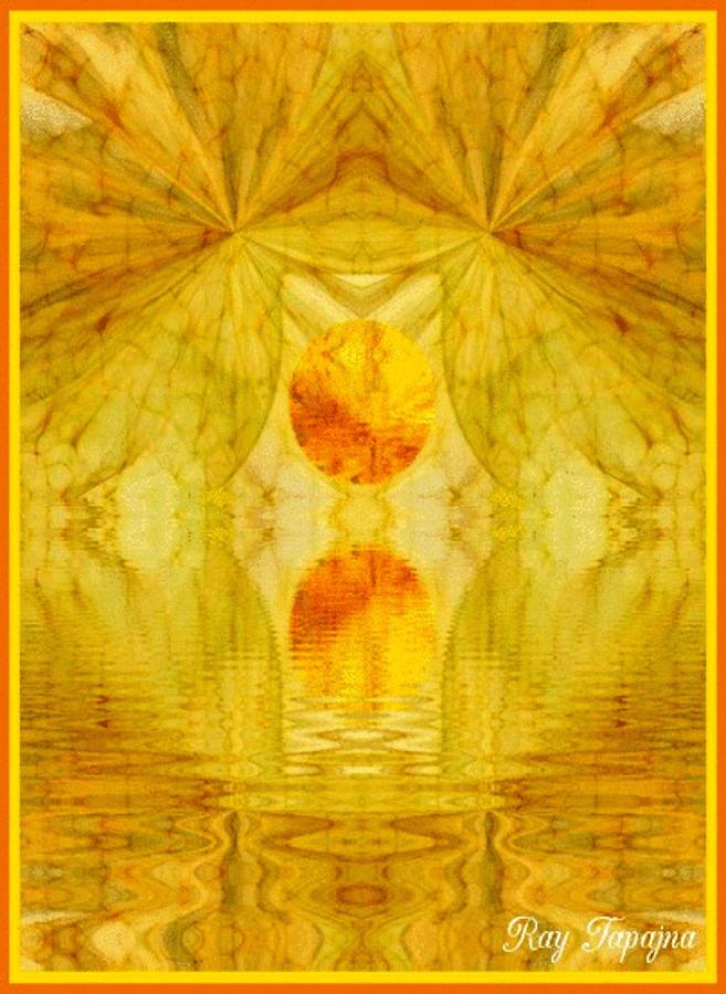 Sunny Digital Art - Healing in Golden Sunlight by Ray Tapajna