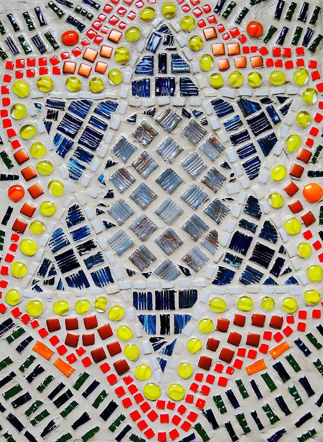 Mosaic Relief - Healing Star by Lisa Brandel