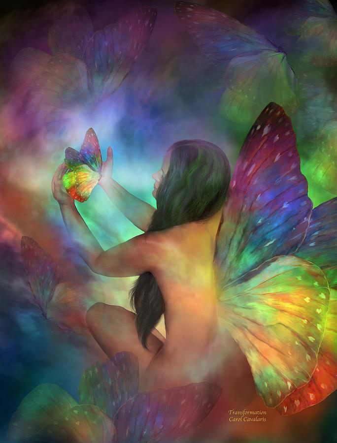 Healing Mixed Media - Healing Transformation by Carol Cavalaris
